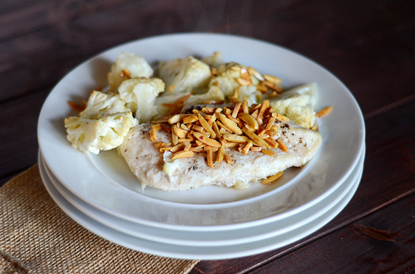 baked-chicken-and-cauliflower-with-almonds