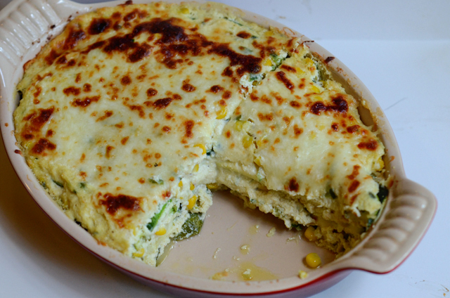 Sneaky Vegetarian Zucchini and Sweet Summer Corn Lasagna || HeathersDish.com