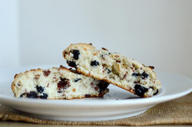 Bacon Blueberry Scone for One || HeathersDish.com