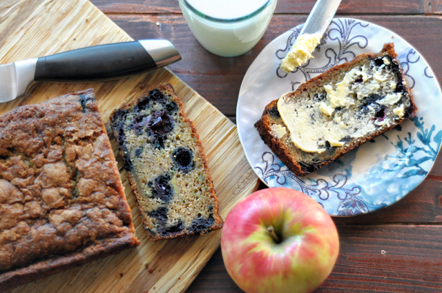 Zucchini Blueberry Bread    HeathersDish.com #breakfast #zucchini #blueberries