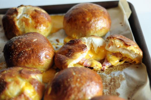 ham-and-cheddar-stuffed-pretzel-rolls