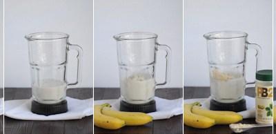 Skinny Peanut Butter Banana Smoothie || HeathersDish.com