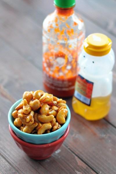 Honey Sriracha Cashews