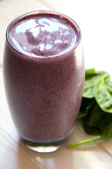 Blueberry Spinach Smoothie from Alaska From Scratch