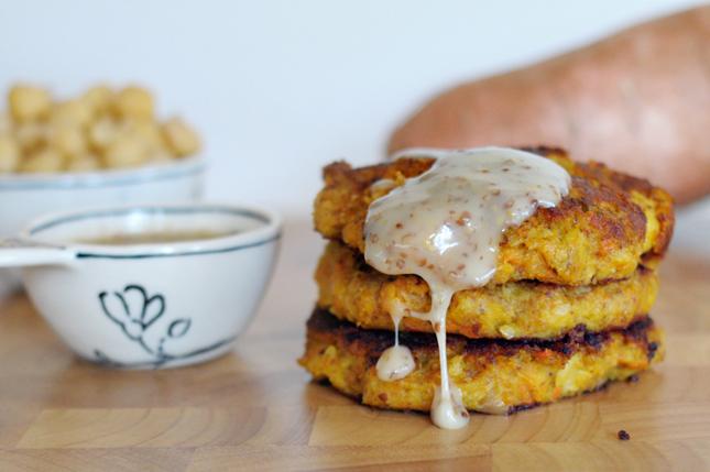 Sweet Potato Chickpea Burgers || HeathersDish.com #healthyeating #hdfit