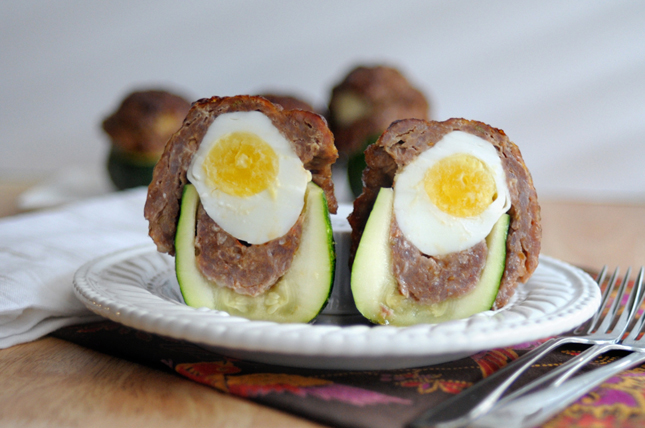 Italian Scotch Eggs in Zucchini Cups || HeathersDish.com