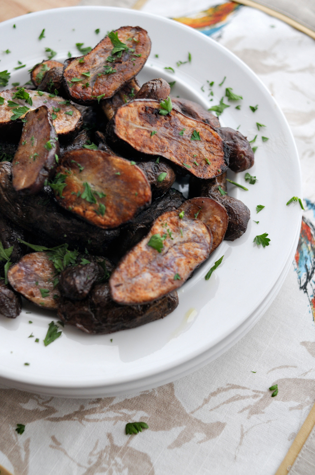 Dijon-Roasted Purple Potatoes || HeathersDish.com