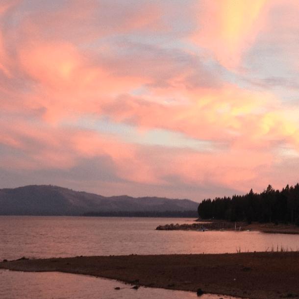 Lake Almanor, California #sunset