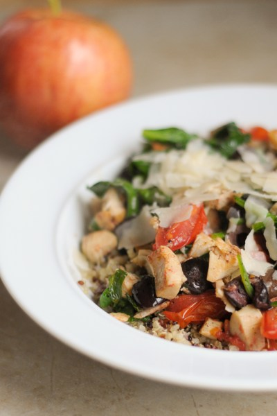 Mediterranean Stir Fry is a simple lunch that's easy to throw together using your favorite leftovers for a healthy meal.