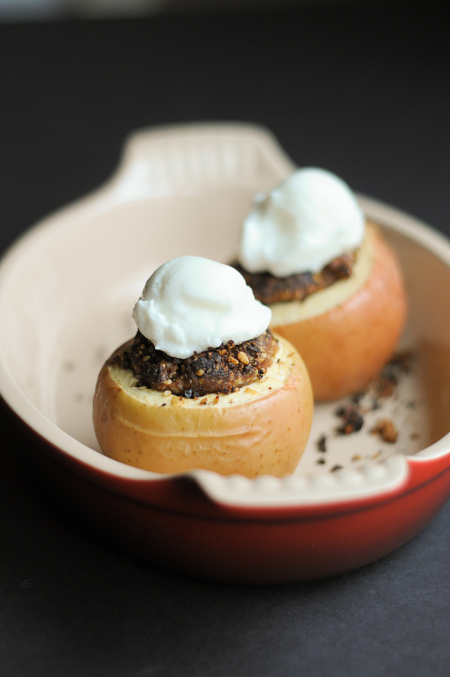 Super Simple Stuffed Baked Apples are healthy and incredibly flavorful, and ready to serve in 20 minutes warm from the oven. Top with ice cream or just a scoop of cold Greek yogurt for a delicious treat.