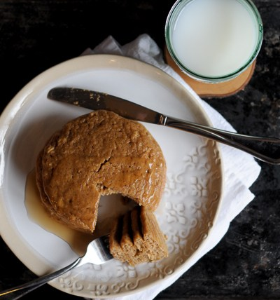 Healthy Peanut Butter Pancakes are a healthy, whole-food alternative to the rich flour-based cousins. Bonus: you bake them, which means you get a great stack of pancakes all at once.