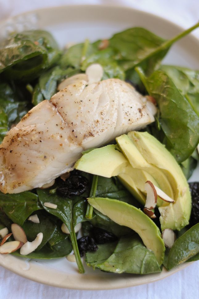Mustard-Roasted Sablefish Spinach Salad is a nutrient-dense and flavorful lunch or dinner.
