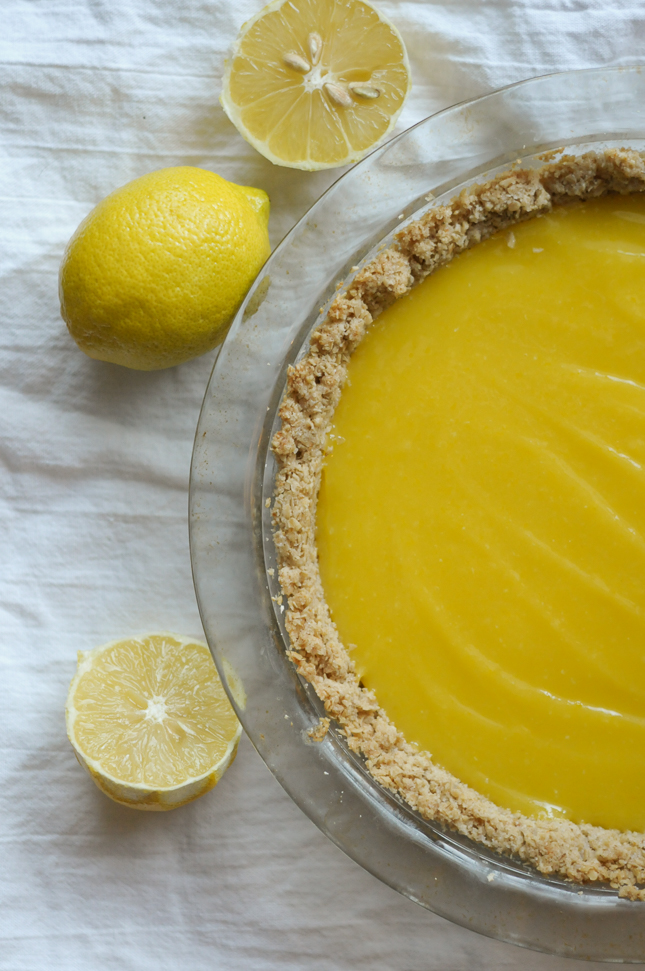 Oatmeal Cookie Pie Crust is simple and sturdy, with the perfect amount of sweetness for any no-bake filling.