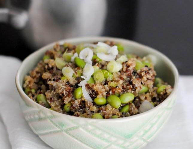 Asian Quinoa Edamame Salad