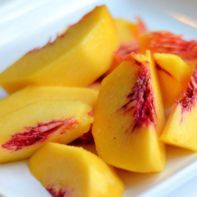 Coconut Peach Slushy || Heather's Dish