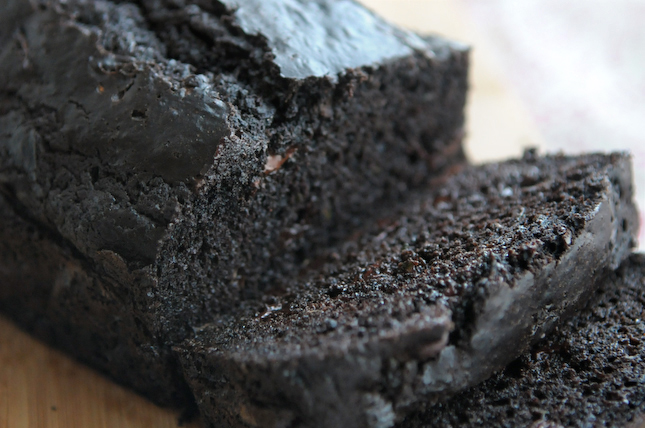 Double Chocolate Zucchini Bread - a legit yummy way to sneak some veggies into your (or your kids!) diet! Just call it chocolate cake and let the gobbling begin...
