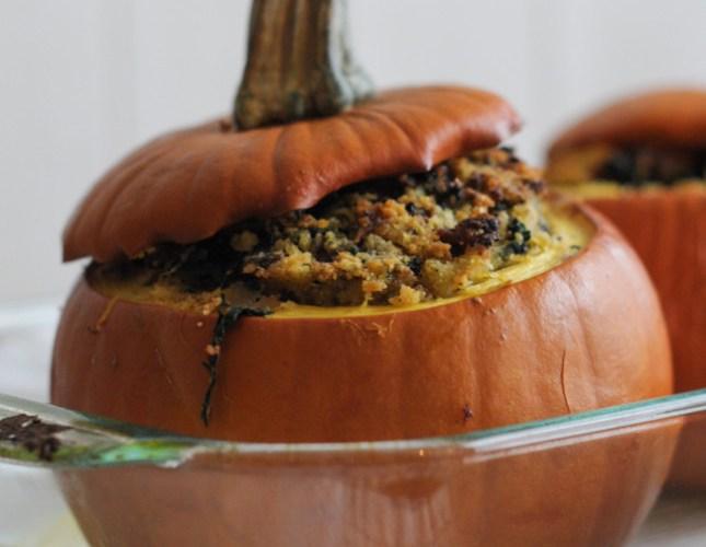 Italian Sausage and Cornbread Stuffed Pumpkins