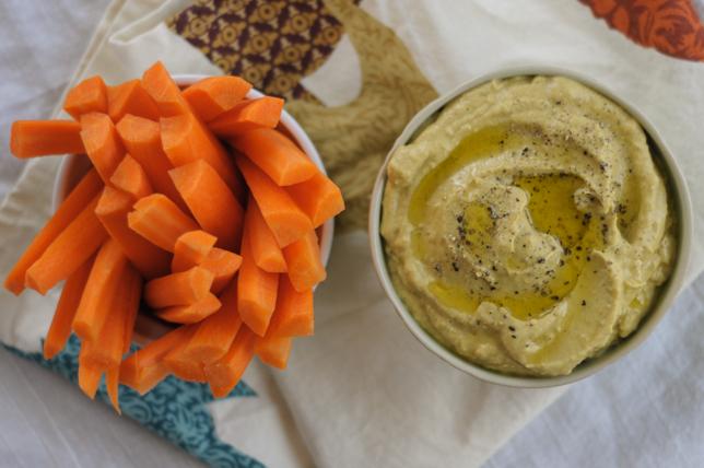 Healthy Mediterranean Eggplant Dip @heathersdish #superbowlmenu