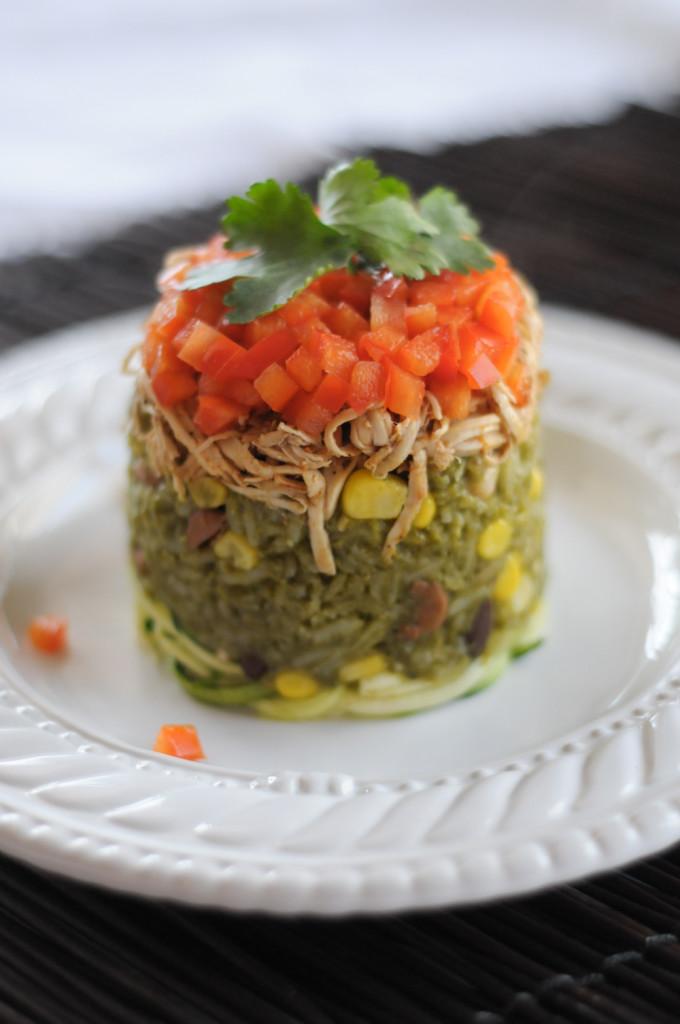 Poblano Rice & Beans with Shredded Fajita Chicken @RicelandFoods