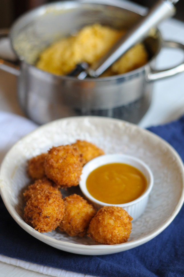 Cheese & Rice Balls with @RicelandFoods @heathersdish
