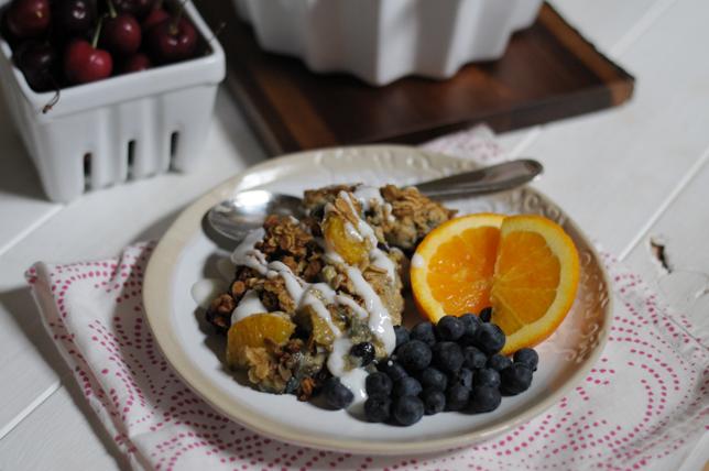 Blueberry Orange Baked Oatmeal @heathersdish #amazinginside #amazing5 #sponsored #FLOJ