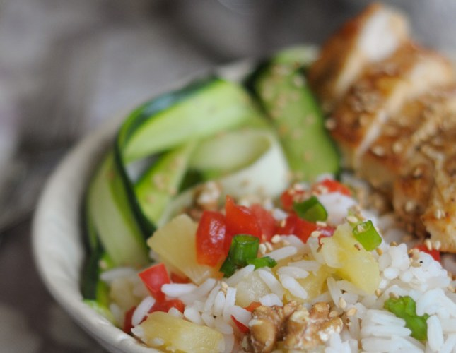Pineapple Rice Bowls