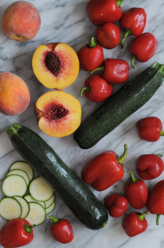 End of Summer Farmer's Market Ricotta Pies #onlyinark with @heathersdish
