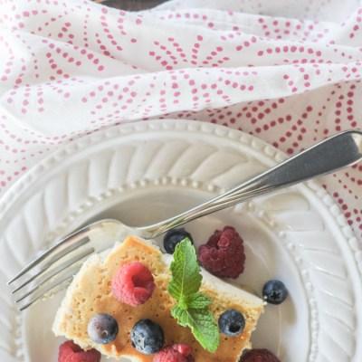 Mascarpone Ricotta Crustless Cheesecake