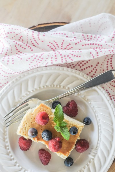 Mascarpone Ricotta Crustless Cheesecake