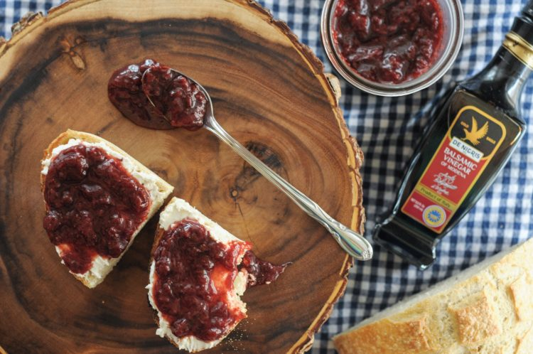 Balsamic Maple Strawberry Jam is sweet, tangy and smoky, the perfect accompaniment to any breakfast or snack! @heathersdish