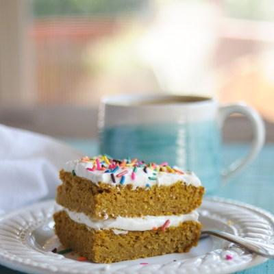 Gluten-Free Blender Pumpkin Breakfast Cake