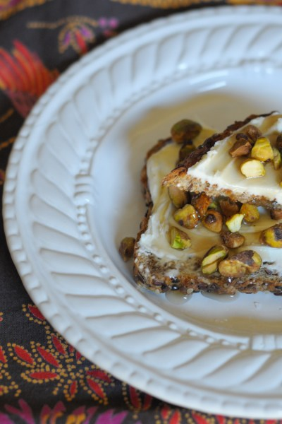 Maple Mascarpone Pistachio Toast