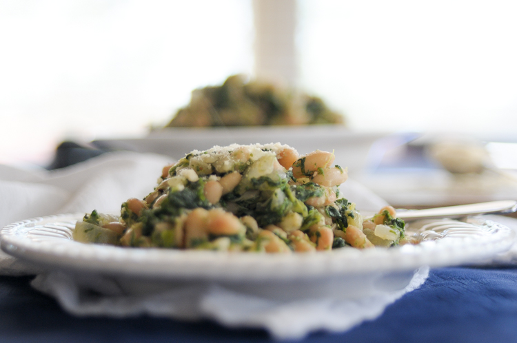 Sautéed Mayocoba Beans & Greens are a great way to get protein, healthy carbs, fiber, and greens into your every day - and make it taste great too! @heathersdish