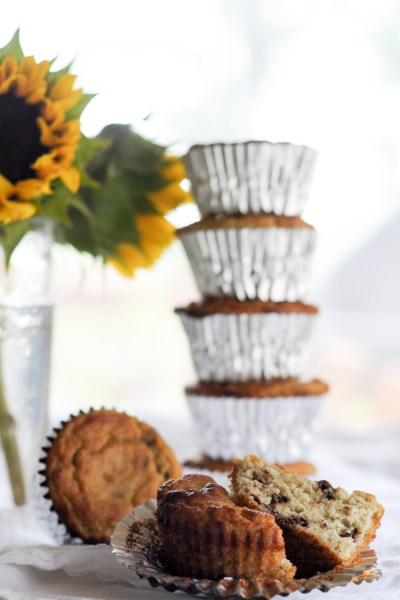 No Sugar Added Grain-Free Banana Chocolate Chip Muffins