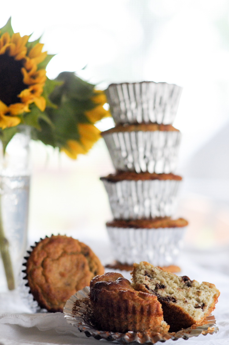 No Sugar Added Grain-Free Banana Chocolate Chip Muffins are a delicious nutrition-packed powerhouse to that make a fantastic breakfast or snack option. @heathersdish