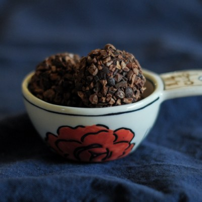 Paleo Dark Chocolate Cacao Truffles