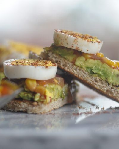 Quick Southwest Avocado Toast with Hard Boiled Eggs #sponsored #eggceptionallygreat @heathersdish @greatdayfarms