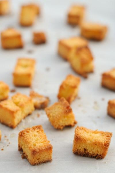 Simple Cornbread Croutons