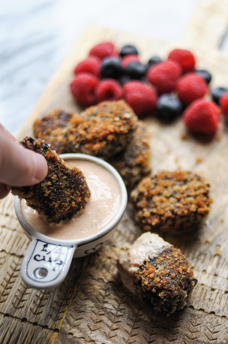 Kid-Friendly Veggie Black Bean Nuggets are nutrient-dense little powerhouses you'll feel really good about feeding to your own little powerhouses. @heathersdish #produceforkids #sponsored @produceforkids