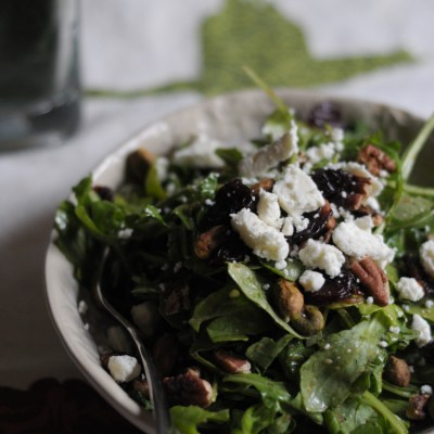 Nutty Arugula, Dried Cherry and Feta Salad