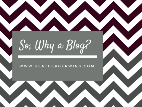 So, Why a Blog?