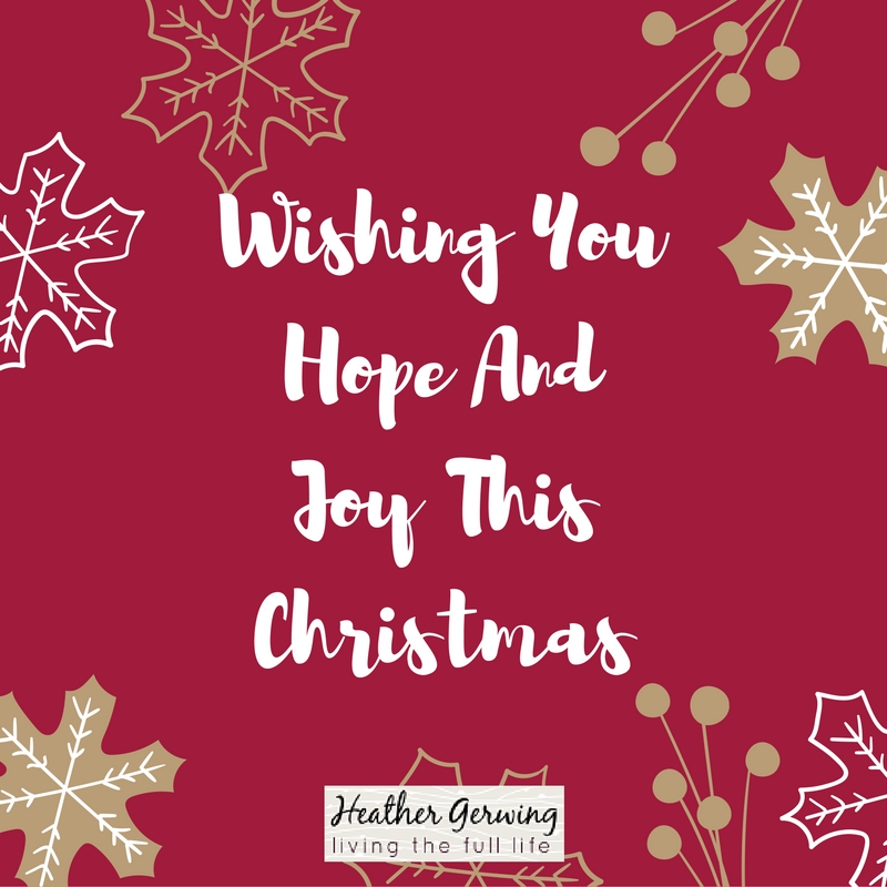 Wishing You Hope and Joy thisChristmas