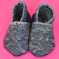 Sew Baby Shoes from Upcycled Denim - Free Sewing Pattern