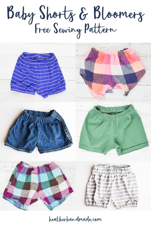 Upcycled Baby Shorts & Bloomers - Free Sewing Pattern