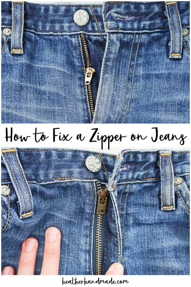 DIY sewing tutorial: Replace a jeans zipper