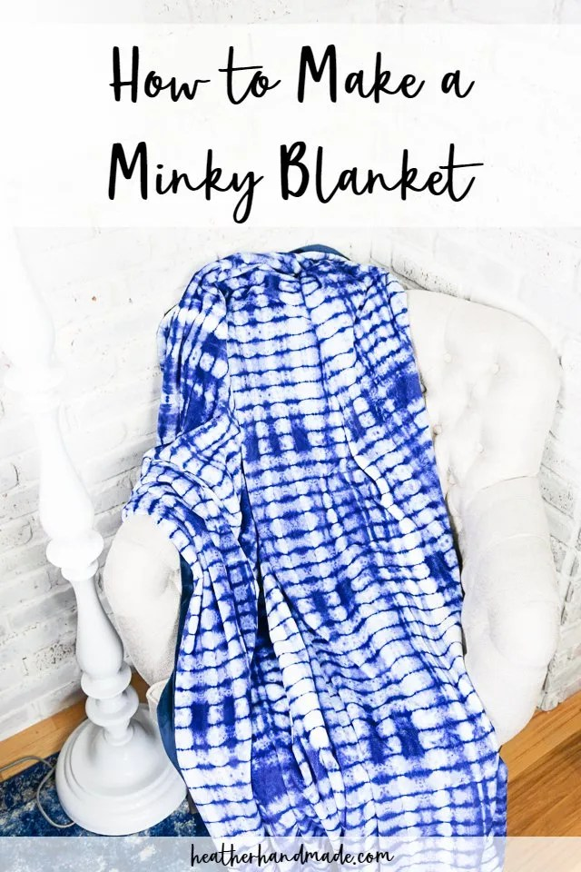 Sewing tutorial: Easy minky blanket
