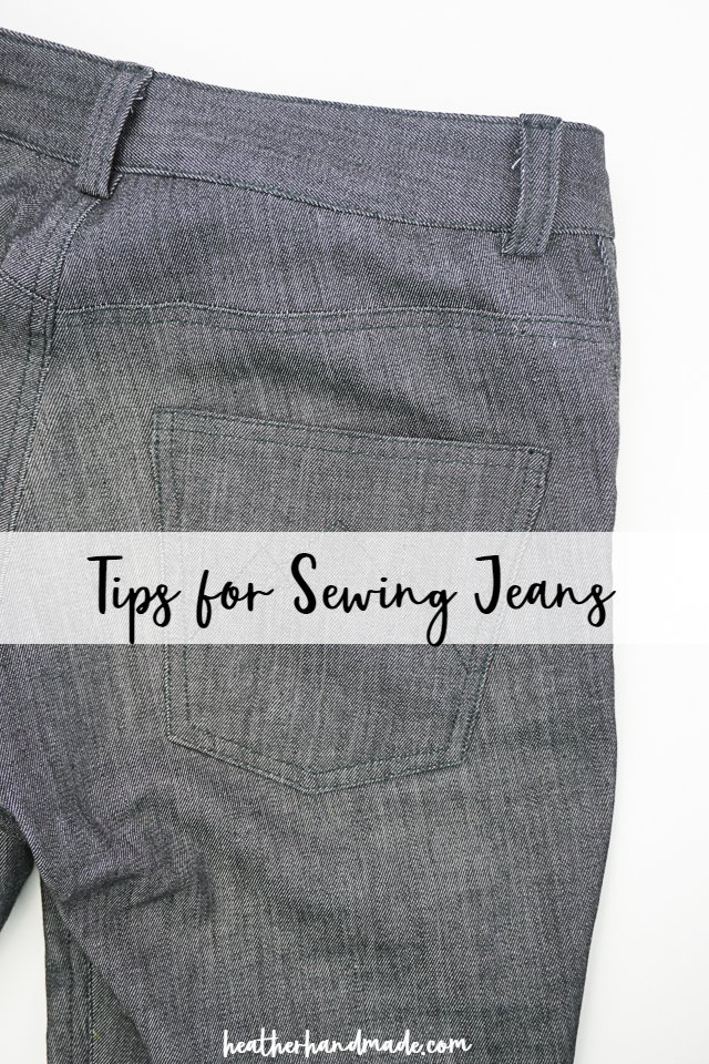 DIY sewing tutorial: Sewing jeans that look and fit great
