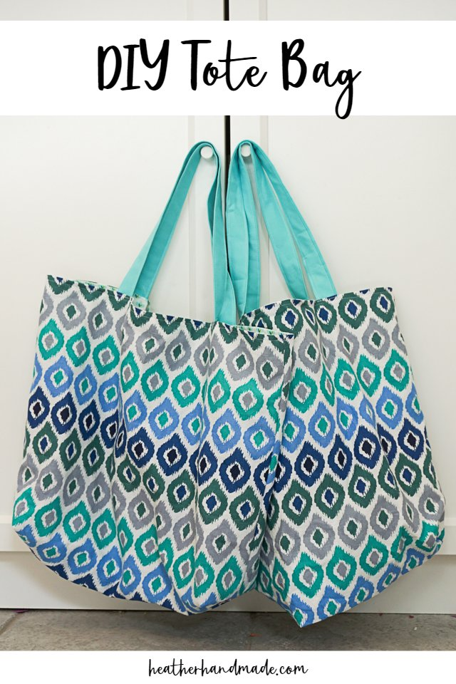 Tote Bag with Fold Up Pocket - DIY Sewing Tutorial