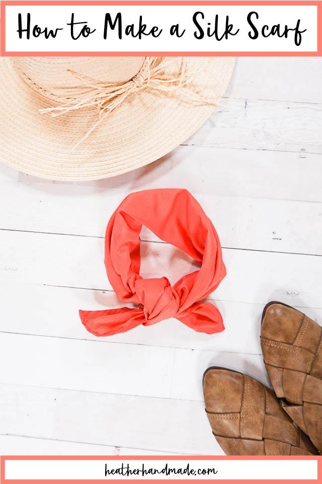 DIY Silk Scarf Sewing Tutorial