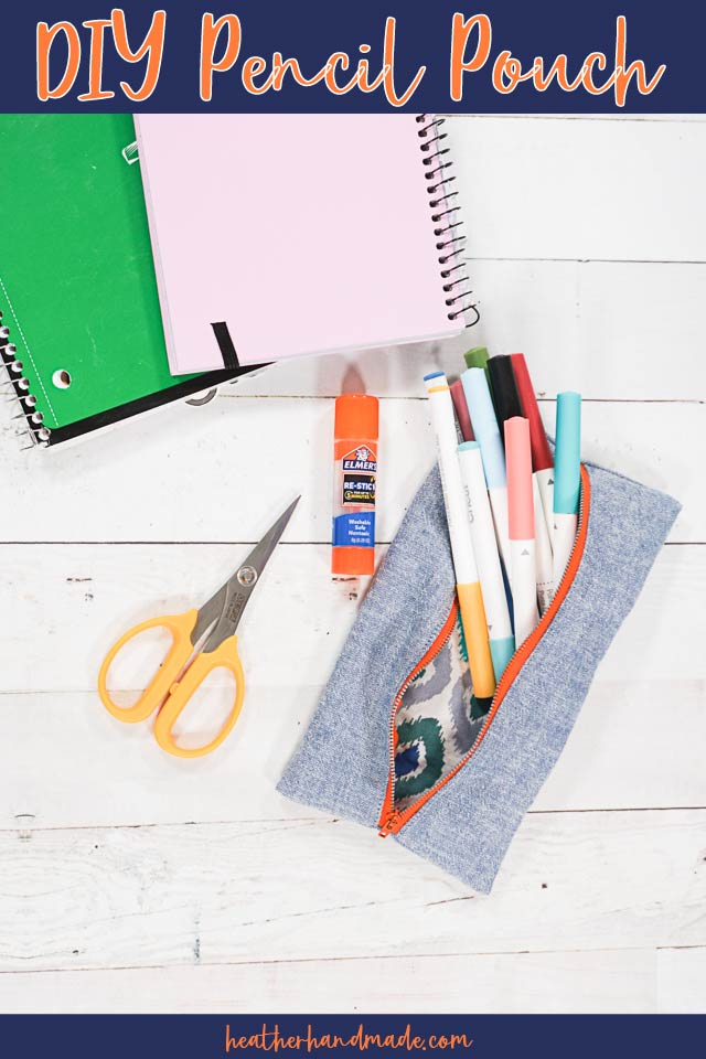 Easy Zipper Pencil Pouch - DIY Sewing Tutorial